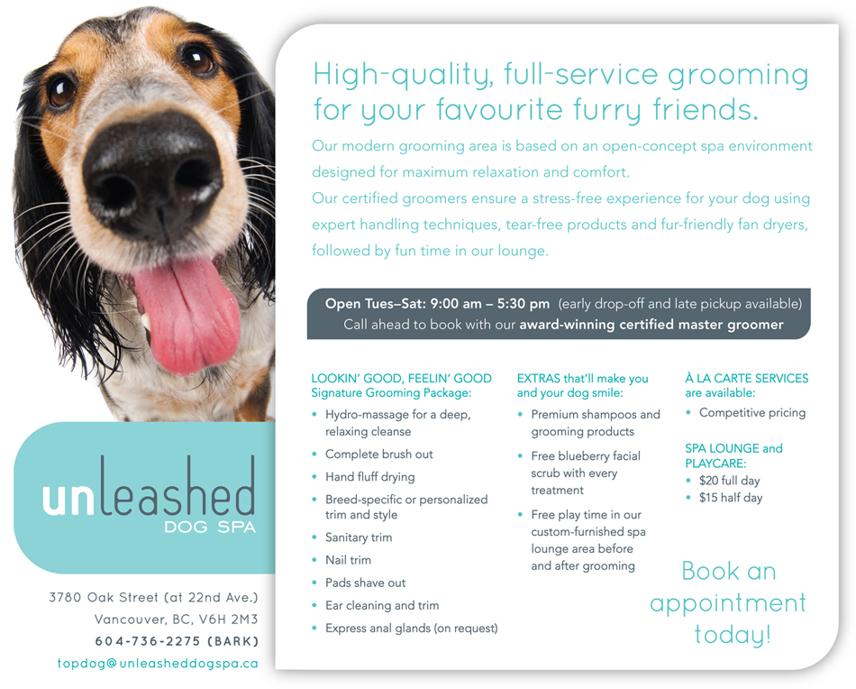 unleashed dog grooming